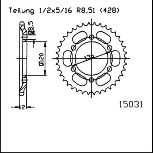 Kettenrad 51Z - (428)