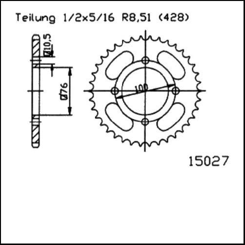 Kettenrad 47Z - (428)