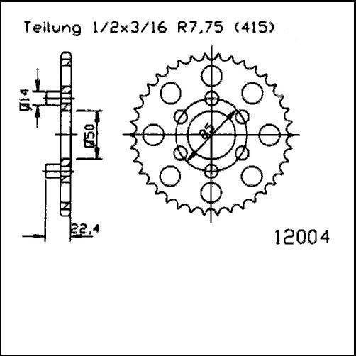 Kettenrad 46Z - (415)