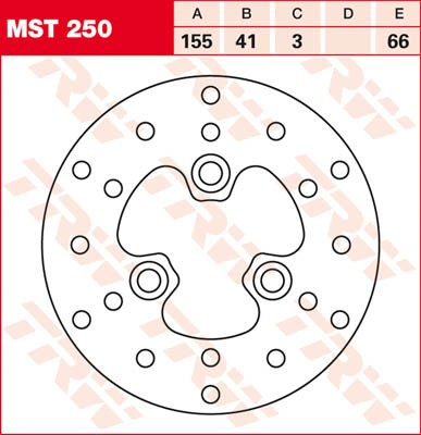 TRW Lucas Bremsscheibe MST 250 / MST250
