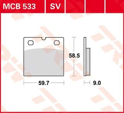 MCB533, mcb 533: Lucas Scheibenbremsbeläge vorn MCB533, mcb 533