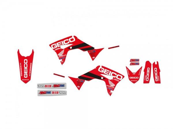 Aufkleber Satz BlackBird Racing Replica GEICO Honda CRF 250 CRF450 Baujahre: 2017-2021