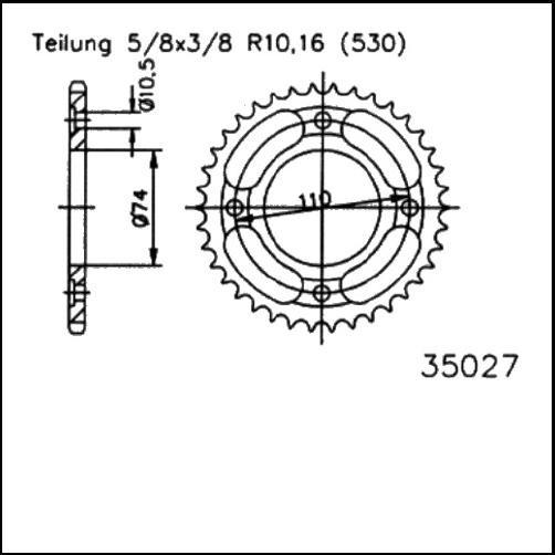 Kettenrad 41Z - (530)