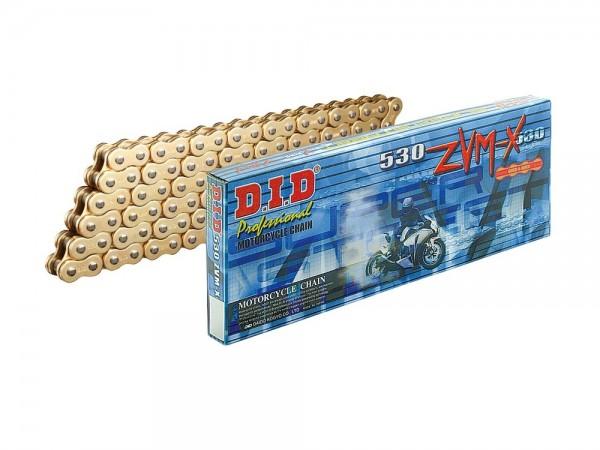 X-Ring-Motorradkette DID 530 ZVM-X G&G mit 098 Gliedern (super verstärkt, goldfarbig) offen