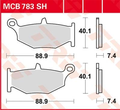 MCB783SH, mcb 783 sh: Lucas Hinterrad Sinterbelag