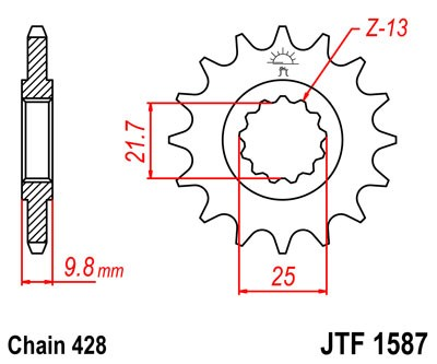 Kettenritzel CNC 19 20 Zähne - (428)