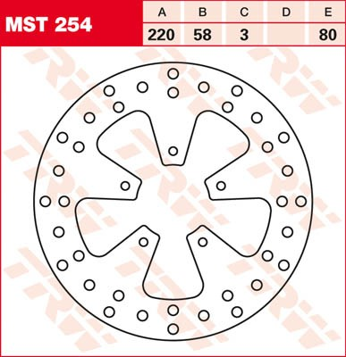 TRW Lucas Bremsscheibe MST 254 / MST254