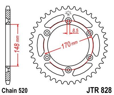 Kettenrad Stahl 42Z - 50Z (520)