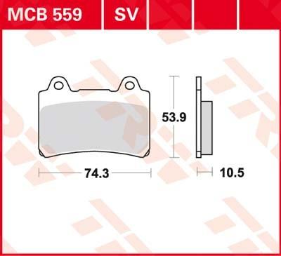 MCB559SV, mcb 559 sv: Lucas Vorderrad Sinterbelag