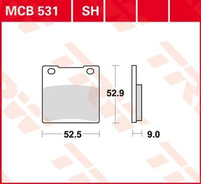 Lucas-TRW/SBS Hinterrrad SINTER-Bremsbelag mcb531SV