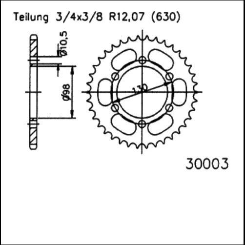 Kettenrad 35Z - (630)