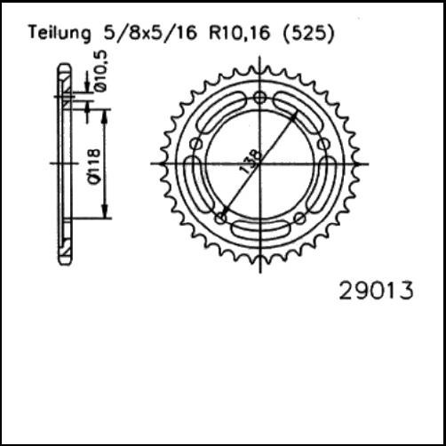 Kettenrad 39Z - (525)