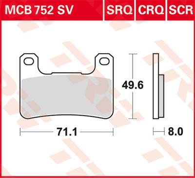 MCB752SV: Lucas-TRW/SBS Vorderrad Sinter-Bremsbelag