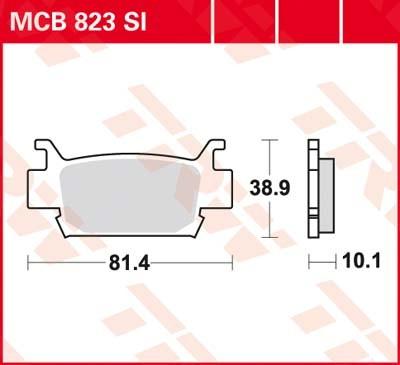 MCB823SI: Lucas SINTER-Offroad-Scheibenbremsbeläge vorn MCB823SI