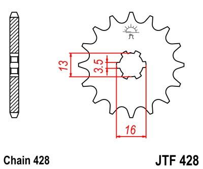 Kettenritzel 12Z - 16Z (428)