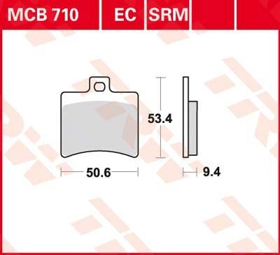 MCB710SRM, mcb 710 srm: Lucas Hinterrrad SINTER-Racing-Bremsbelag
