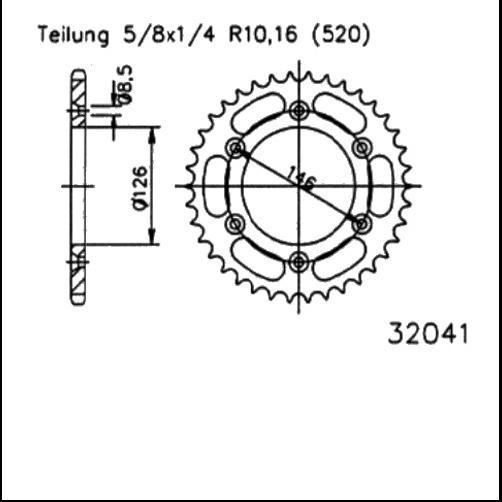 Kettenrad 49Z - (520)