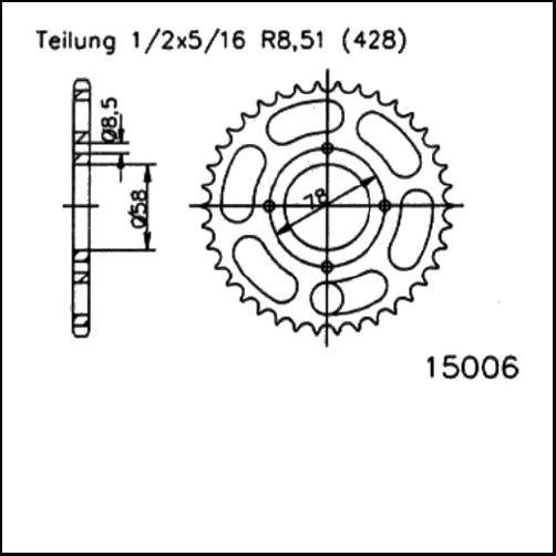 Kettenrad 49Z - (428)