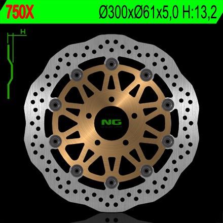 Bremsscheibe NG 0750X / NG0750X Wave