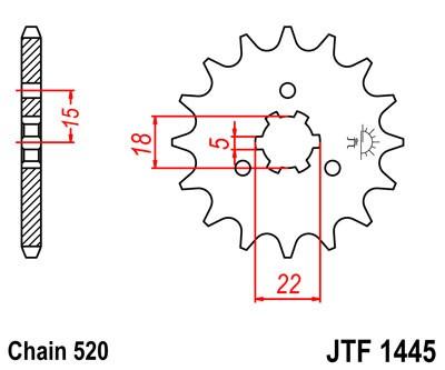 Kettenritzel 11 12 13 14 Zähne (520)