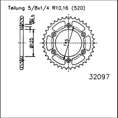 Kettenrad 44Z - (520)