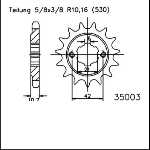 Kettenritzel 16Z - (530)
