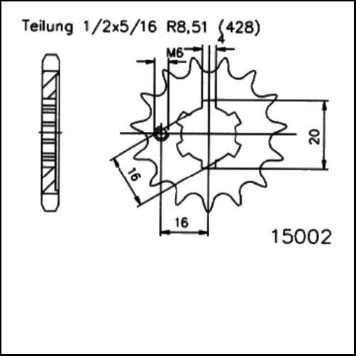 Kettenritzel 14Z - (428)