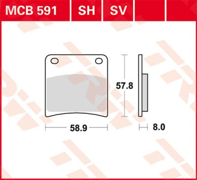 MCB591SV, mcb 591 sv Lucas-TRW/SBS Vorderrad Sinter-Bremsbelag