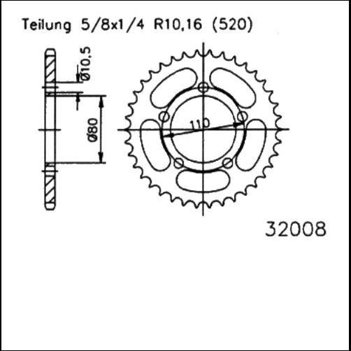 Kettenrad 36Z - (520)
