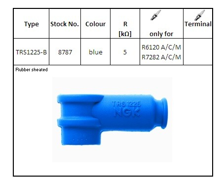 NGK Racing Zündkerzenstecker TRS 1225 blau - stock [8787]