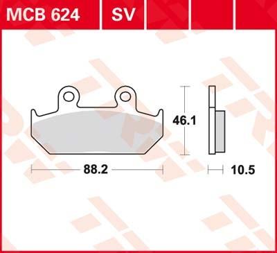 MCB624SV, mcb 624 sv: Lucas SINTER-Scheibenbremsbeläge vorn MCB624SV, mcb 624 sv