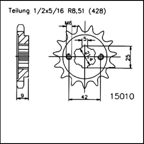 Kettenritzel 19Z - (428)
