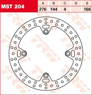 TRW Lucas Bremsscheibe MST 204 / MST204