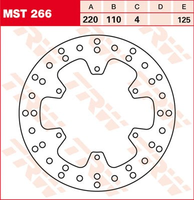TRW Lucas Bremsscheibe MST 266 / MST266