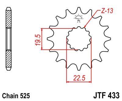 Kettenritzel 14Z - (525)