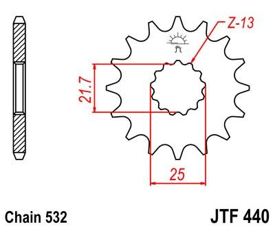 Kettenritzel 13Z - 16Z (532)