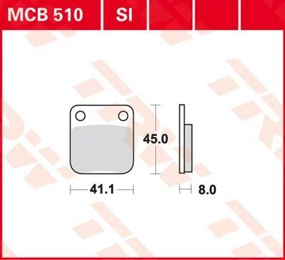MCB510, MCB 510 Lucas-TRW Vorderrad Standard-Bremsbelag (Carbon-Keramik)