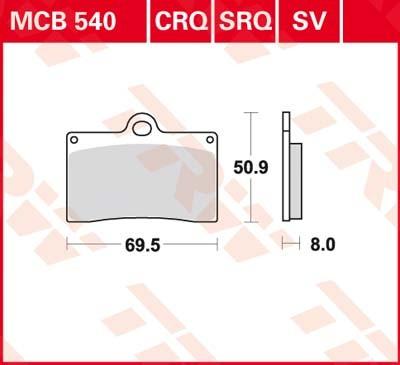 MCB540, mcb 540: Lucas Vorderrad Standardbelag (Carbon-Keramik)