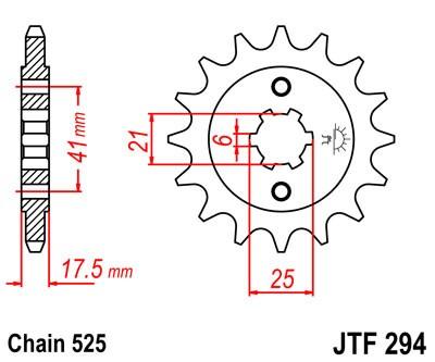 Kettenritzel 14Z / 15Z / 17Z (525)