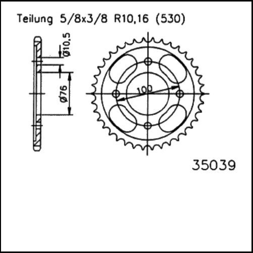 Kettenrad 46Z - (530)