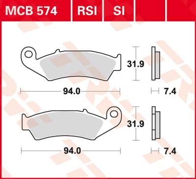 MCB574SI, mcb 574 si: Lucas SINTER-Offroad-Scheibenbremsbeläge vorn MCB574SI, mcb 574 si