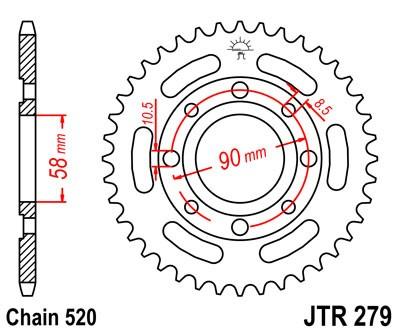 Kettenrad 30Z - 35Z (520)