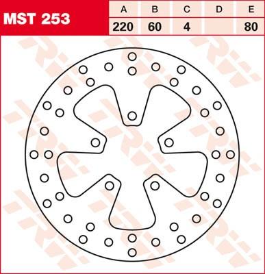 TRW Lucas Bremsscheibe MST 253 / MST253