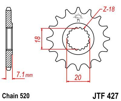 Kettenritzel 11 - 14 Zähne (520) Standard und Schlammnut