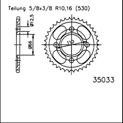 Kettenrad 38Z - (530)