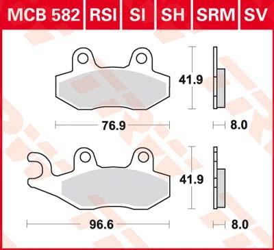 MCB582SH, mcb 582 sh: Lucas Hinterrrad Sinterbelag