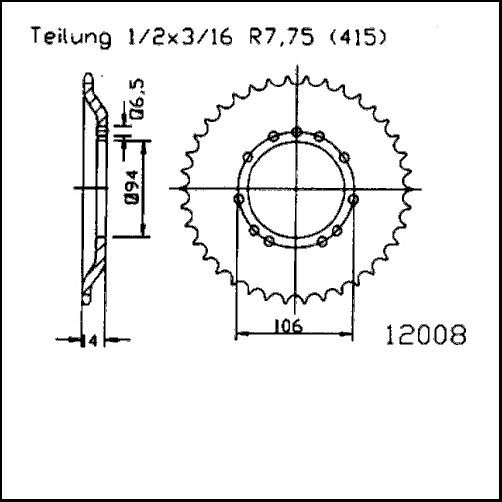 Kettenrad 44Z - (415)