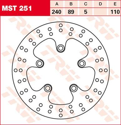 TRW Lucas Bremsscheibe MST 251 / MST251