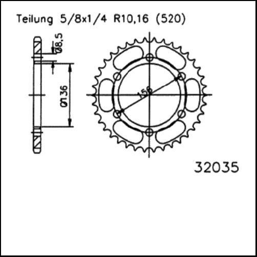 Kettenrad 46Z - (520)