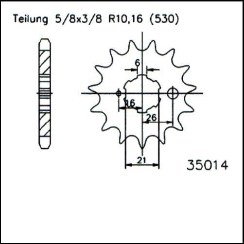 Kettenritzel 15Z - (530)